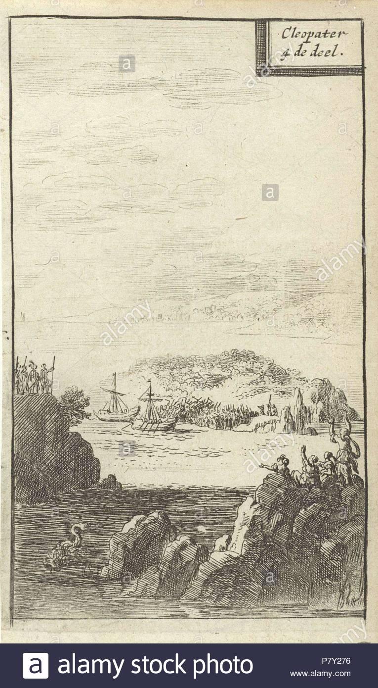 Zwei Kuchen Mit Soldaten In Einer Bucht Drucken Teekocher Abraham