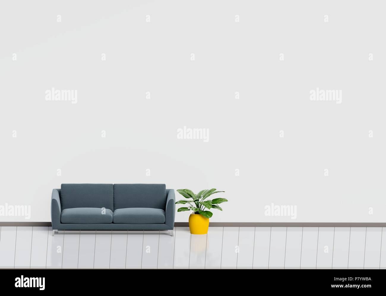 Moderne Raumgestaltung Wohnzimmer Mit Sofa Schwarz Mit Weissen Und