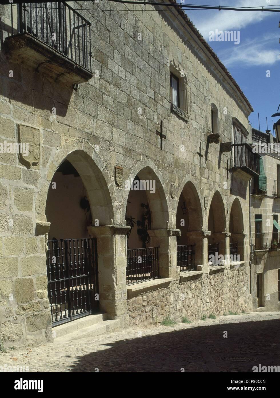 Casa Con Arcos De La Fachada Ort Außen Trujillo Cáceres Spanien