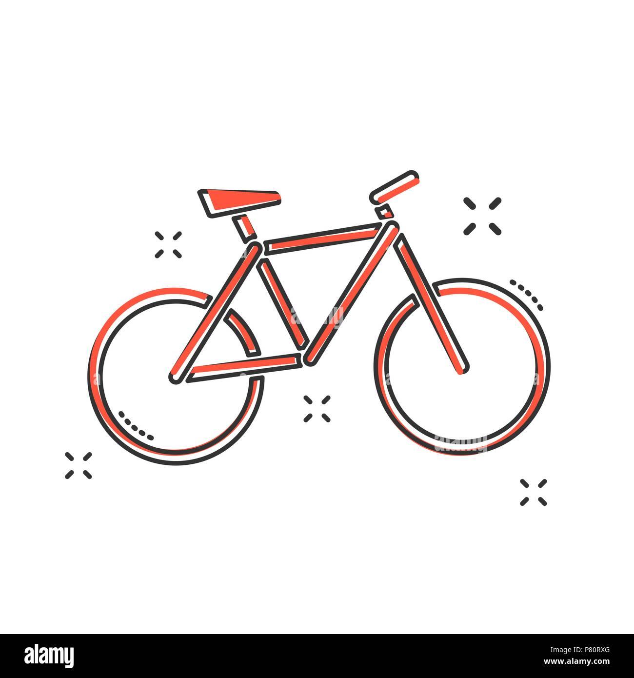Cartoon Bike Symbol Im Comic Stil Fahrrad Zeichen Abbildung