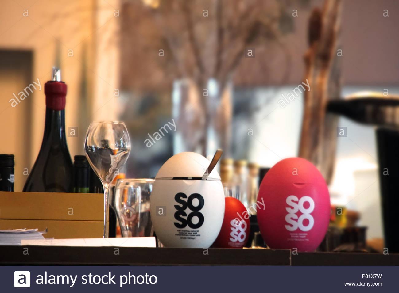 Dekoration auf dem Tisch Stockbild