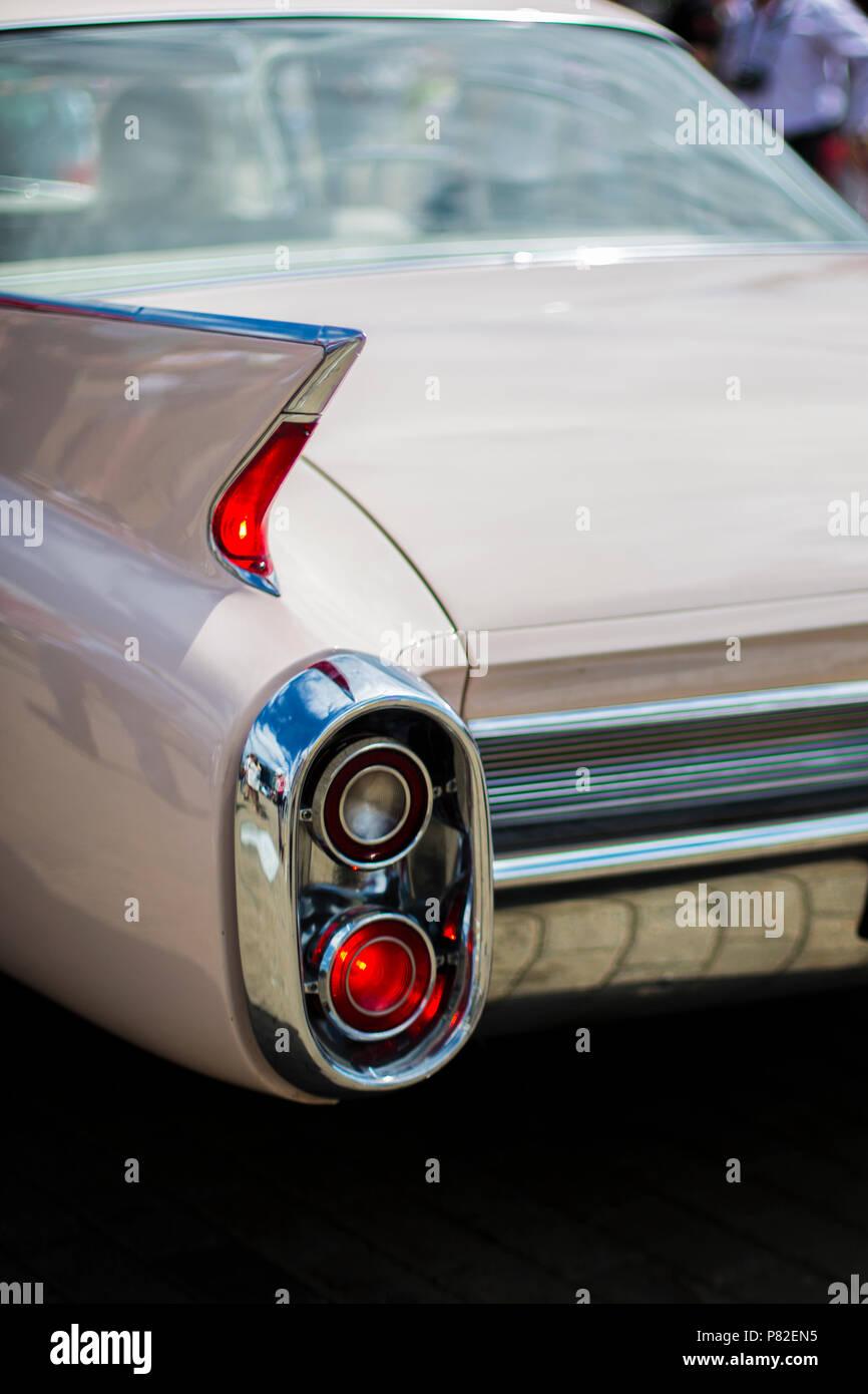 Hinteren Anschlag Licht der alten amerikanischen Auto Stockbild