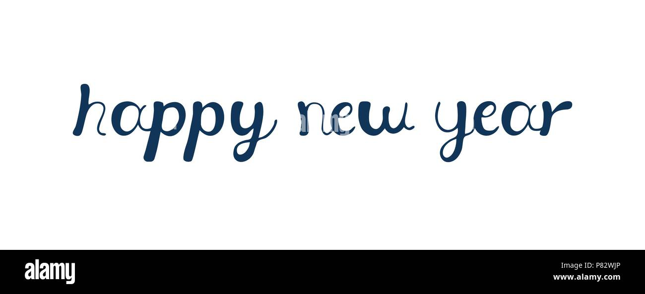Vektor Illustration kalligrafischen text Frohes Neues Jahr ...