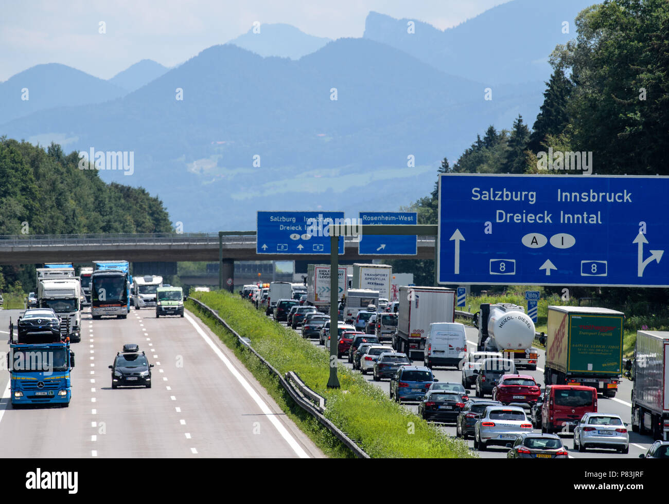 austrian road sign traffic stockfotos austrian road sign. Black Bedroom Furniture Sets. Home Design Ideas