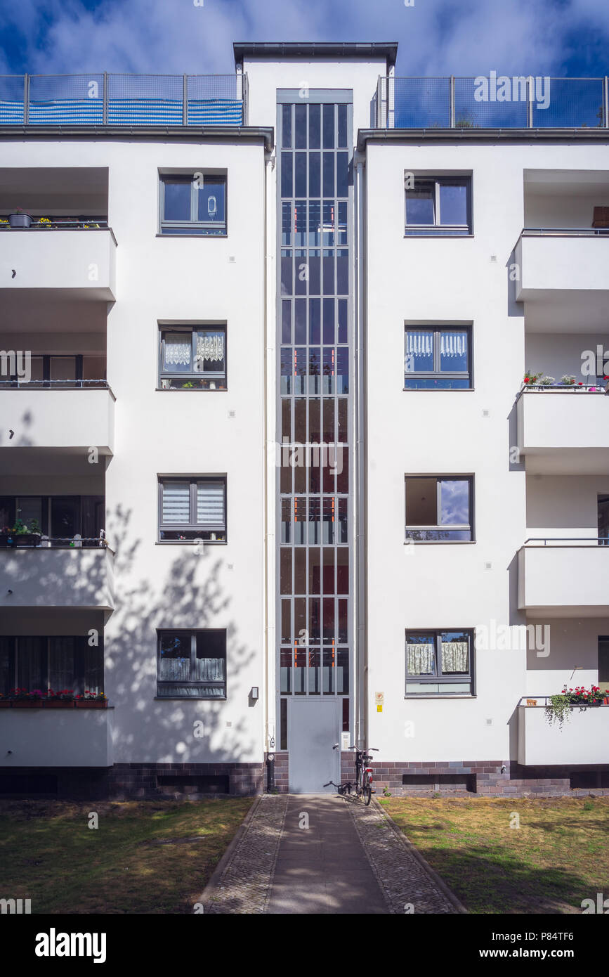 Berlin Spandau Siemensstadt / 1927 - 31, Walter Gropius Stockbild