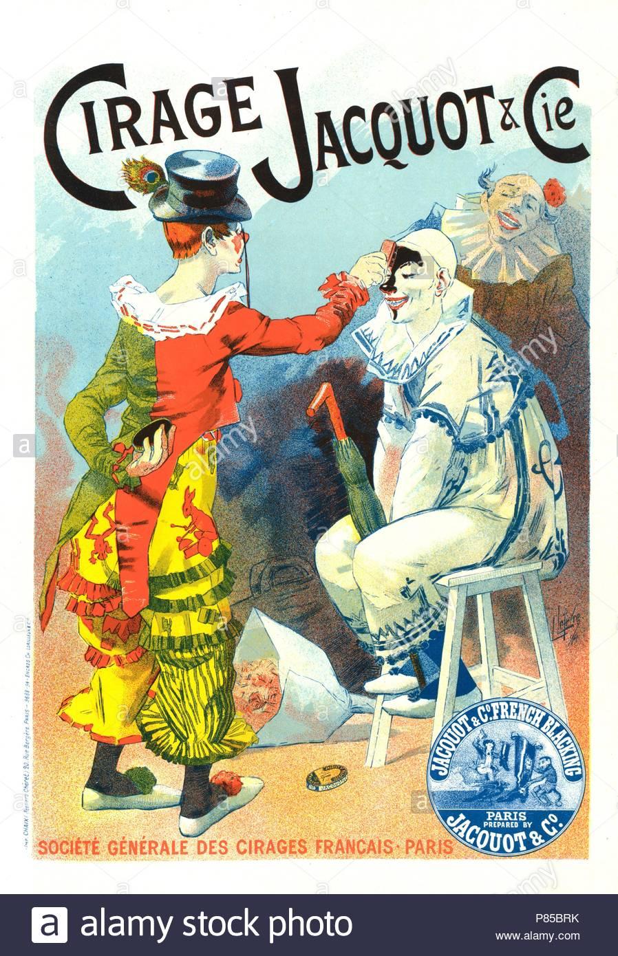 Plakat Für Cirage Jacquot Et Cie Lucien Lefevre 1850 Varennes