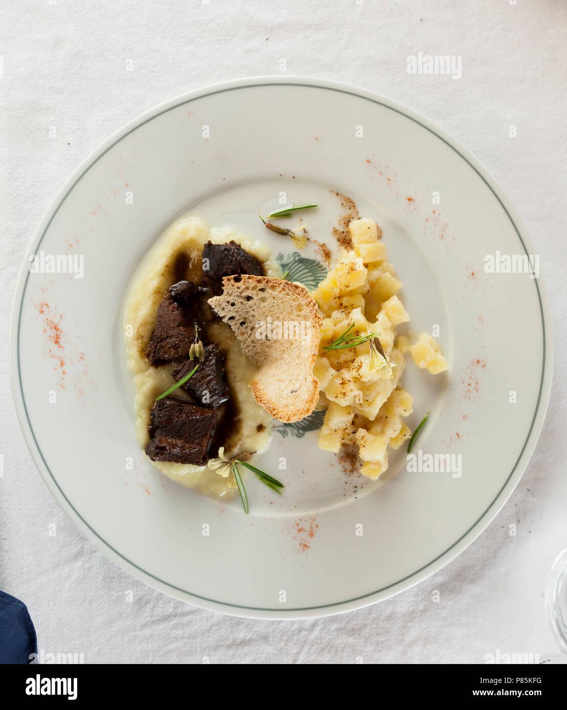Italienisches Essen Stockbild
