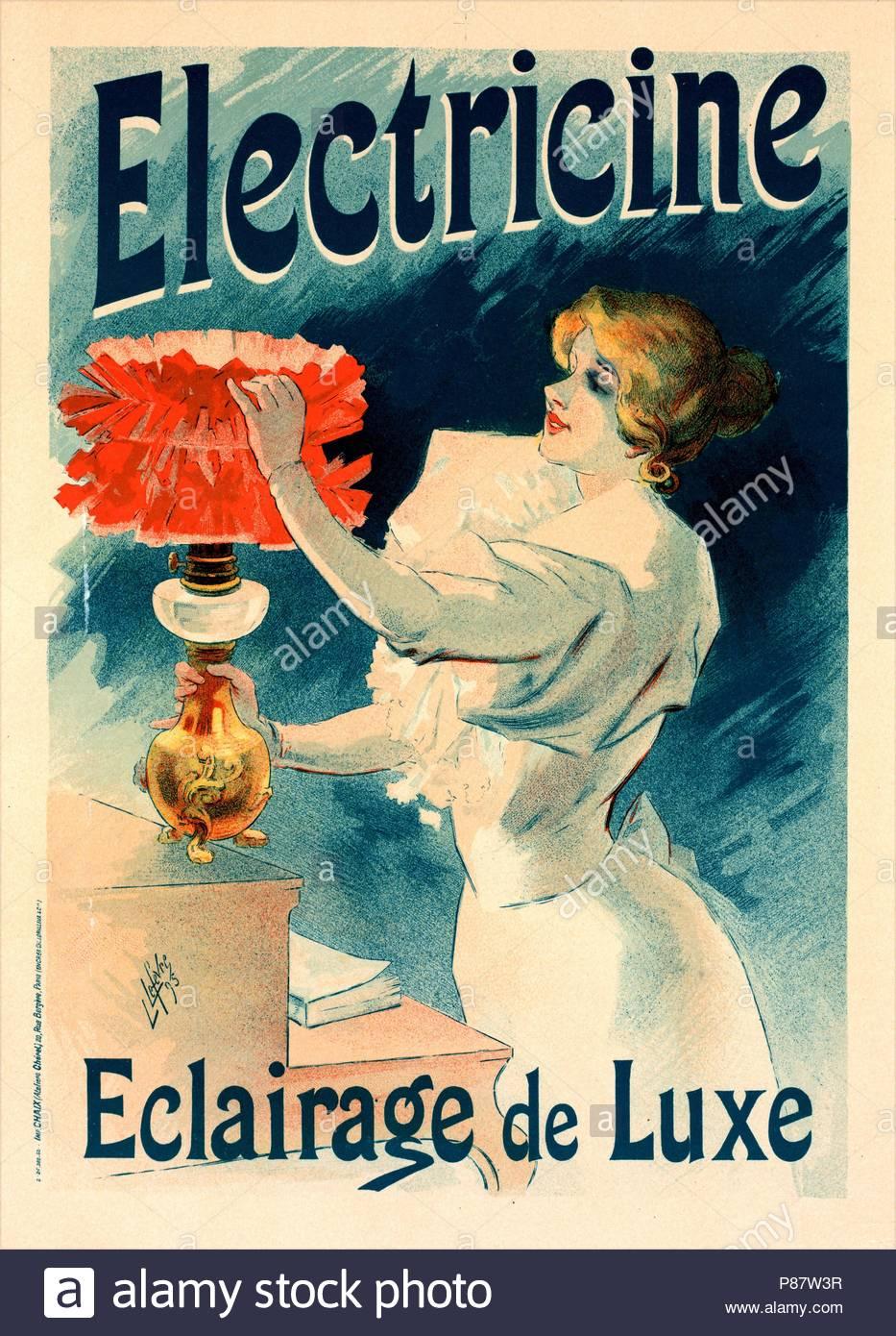 Plakat Für Lélectricine Lucien Lefevre 1850 Frankreich Im Salon