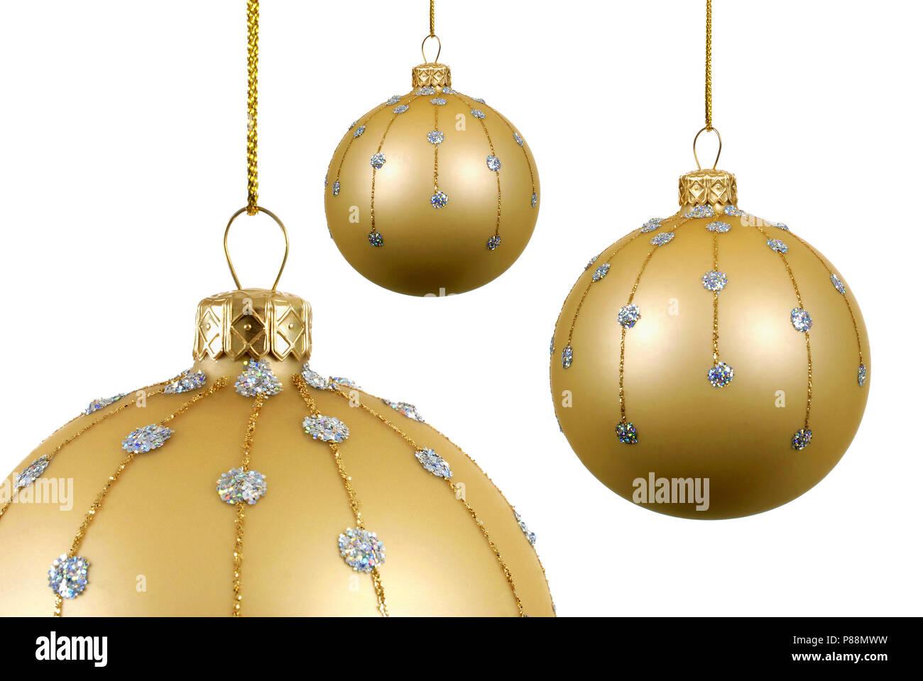Christbaumkugeln Glas Gold.Mehrere Gold Weihnachtskugeln Oder Christbaumkugeln Aus Glas