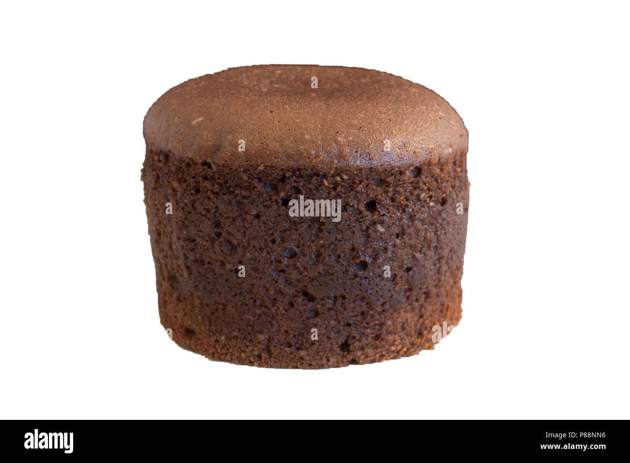 Schokolade Vulkan Lava Kuchen Isoliert Mit Weissem Hintergrund