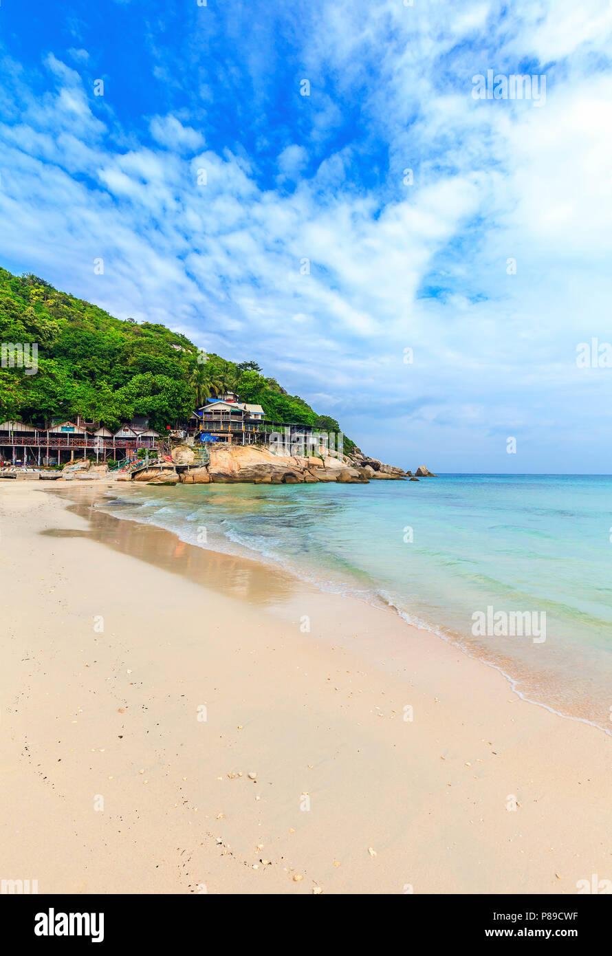 Haad Rin Beach. Veranstaltungsort des berühmten Full Moon Party. Koh Phangan. Thailand. Stockbild