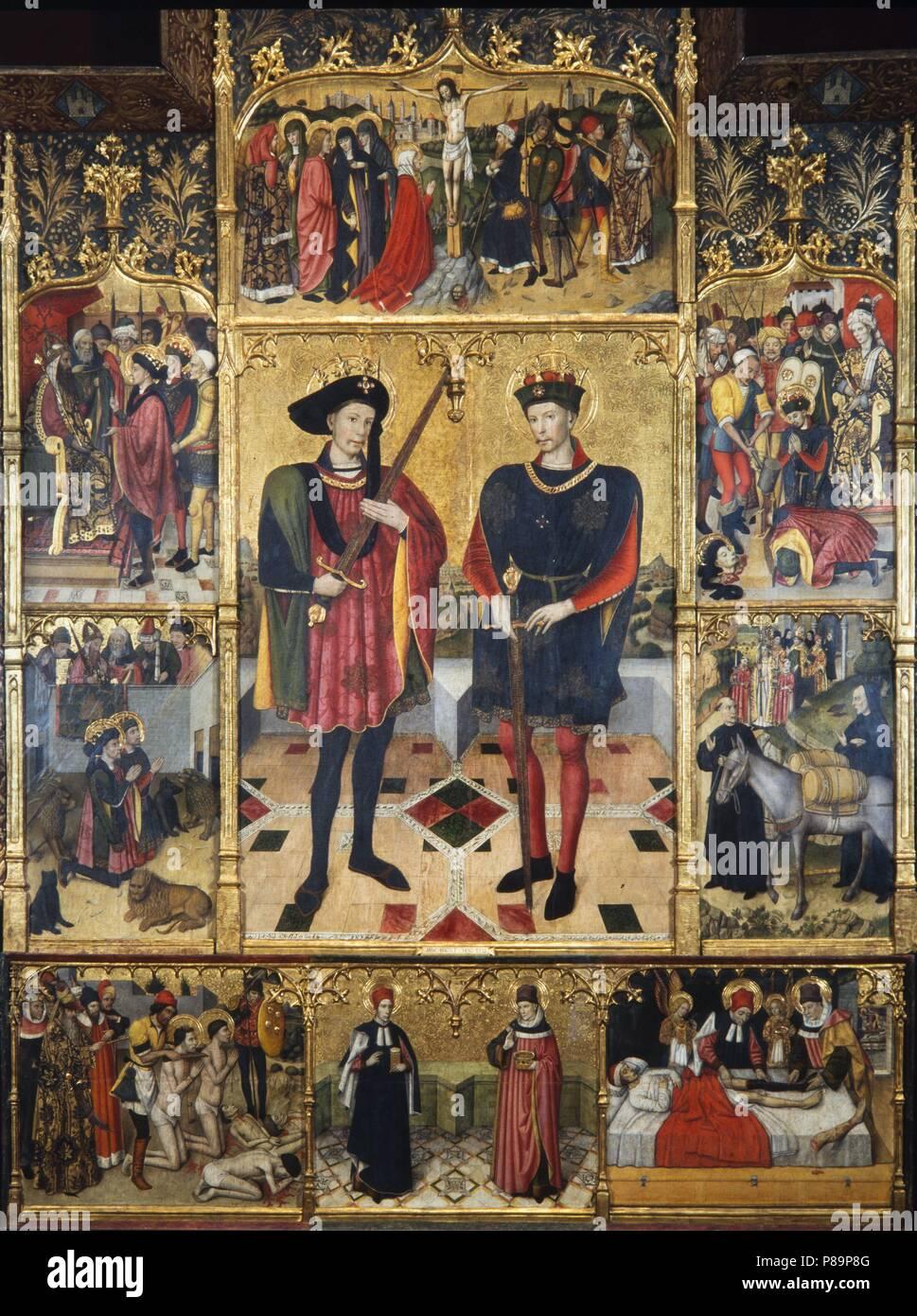 Retablo De Los Santos Abdon Y Senen 1460 Pintura Al Temple De