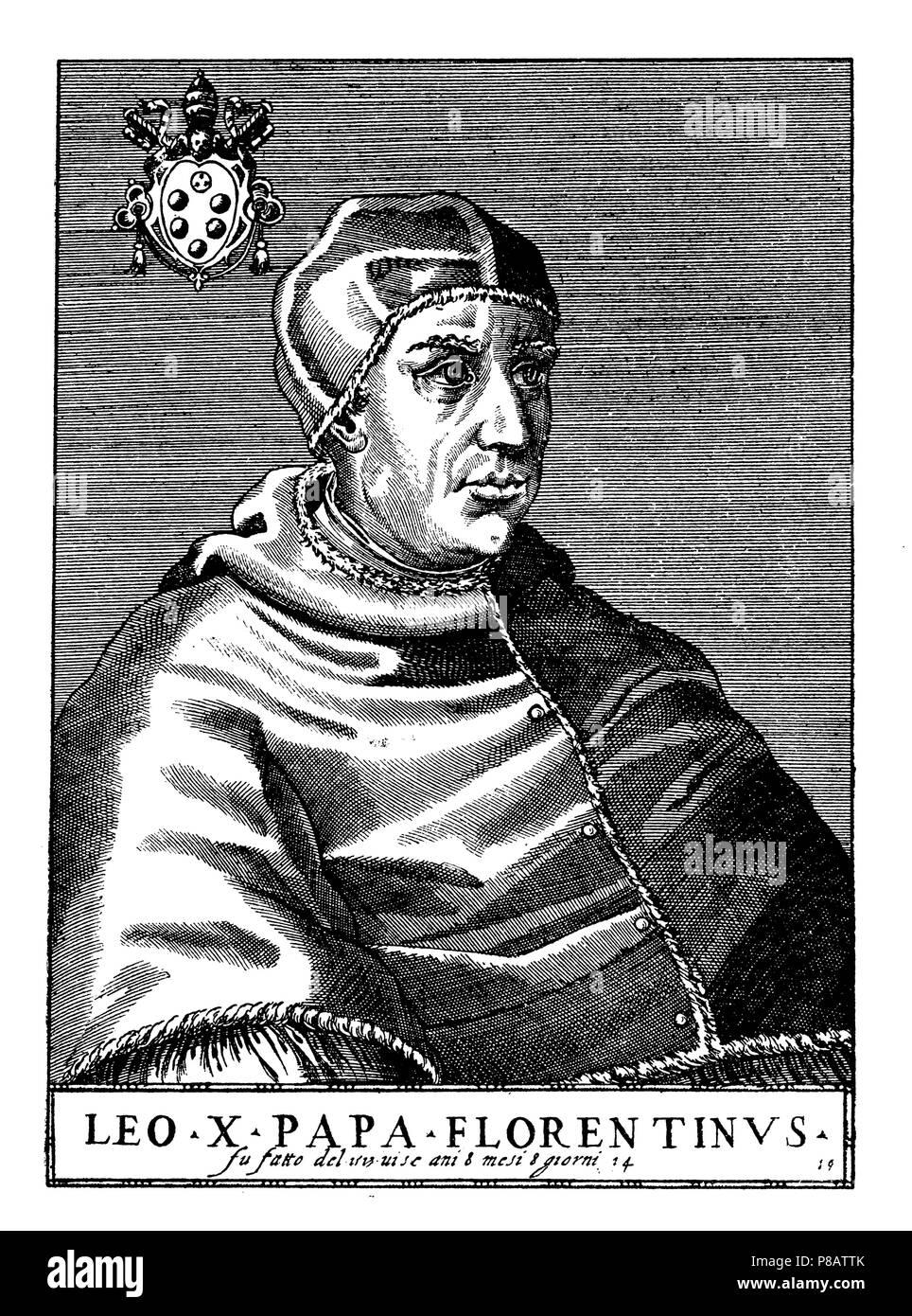 Papst Leo X Geboren Im Jahr 1475 Zum Papst Gewählt Wurde In 1513