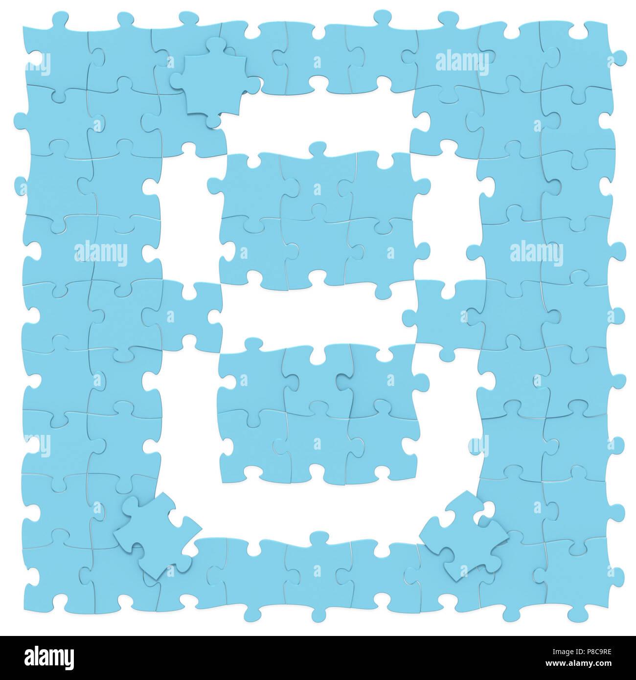 17+ Jigsaw blau Puzzles zusammengesetzt wie mathematische Ziffer 8 ... Fotos