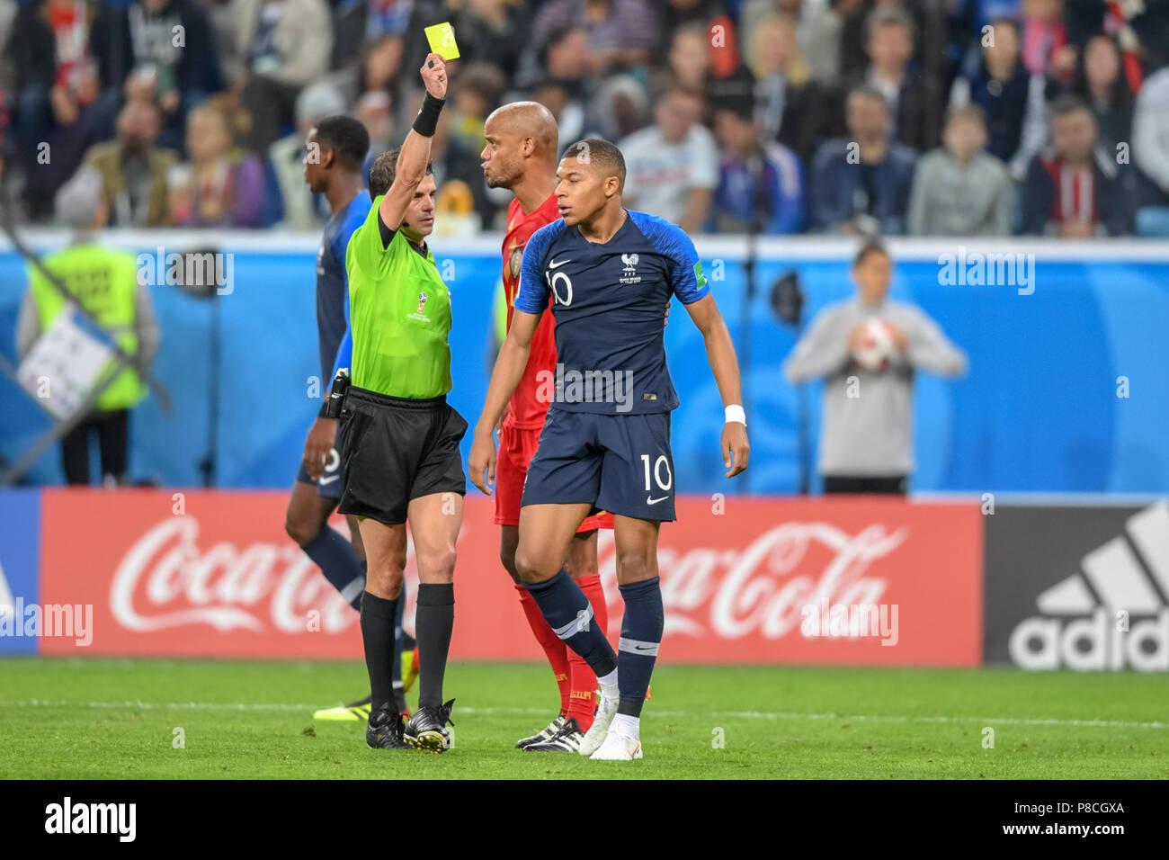 Rote Karte Wm 2018.St 10 Juli 2018 Gelb Rote Karte Für Kylian Mbappe Frankreichs Bei