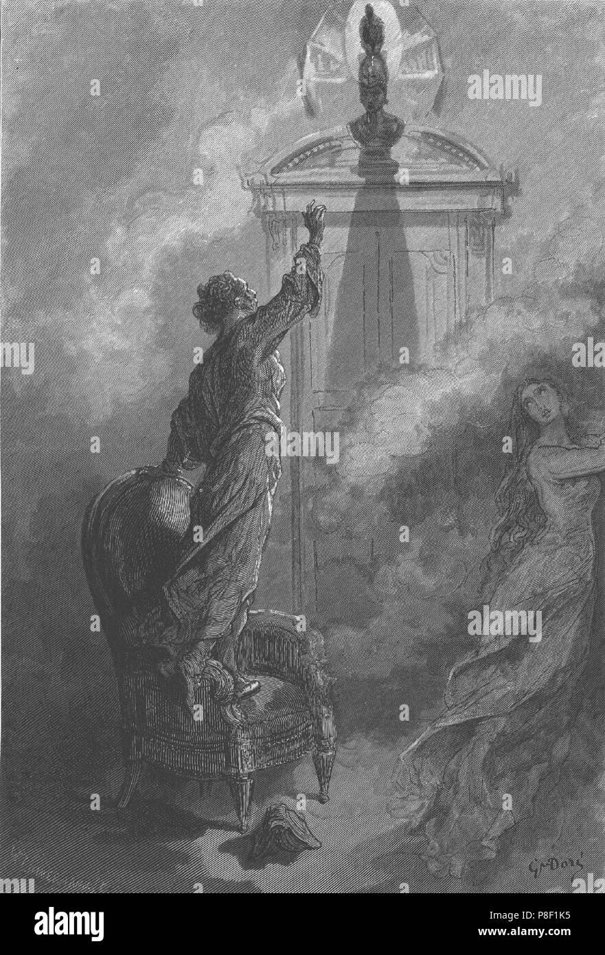 Illustration Für Das Gedicht The Raven Von Edgar Allan Poe