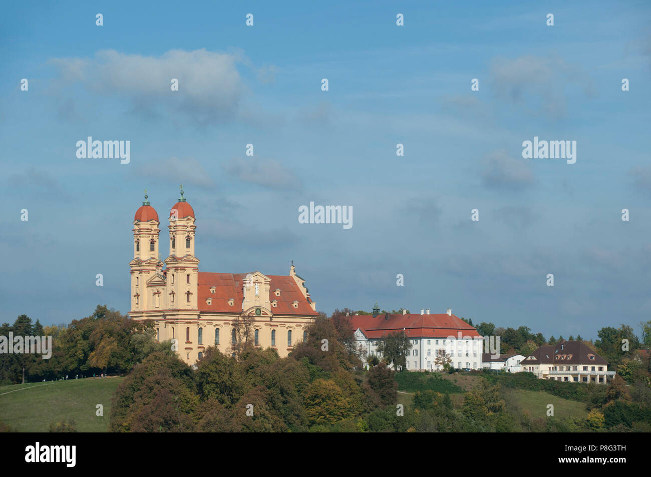 Wallfahrtskirche, schonenberg Kirche, Ellwangen, jagst Valley, schwäbischen Alb, Baden-Württemberg, Deutschland, Schönenberg Stockbild