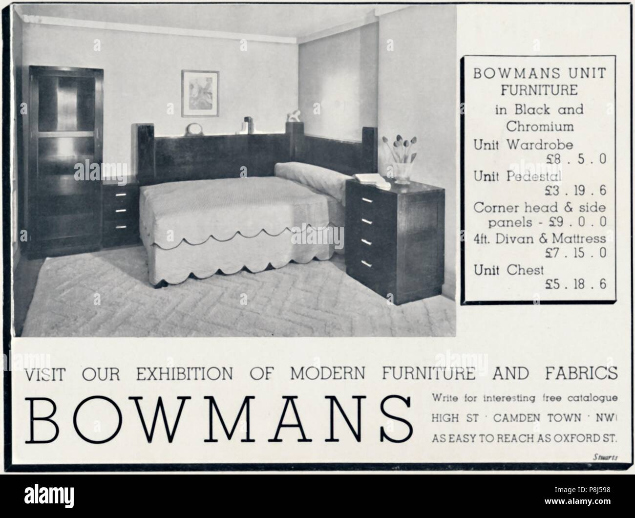 bowmans unsere ausstellung fur moderne mobel und stoffe 1935 besuchen von dekorativen kunst 1935 year book des studios von c g holme das studio