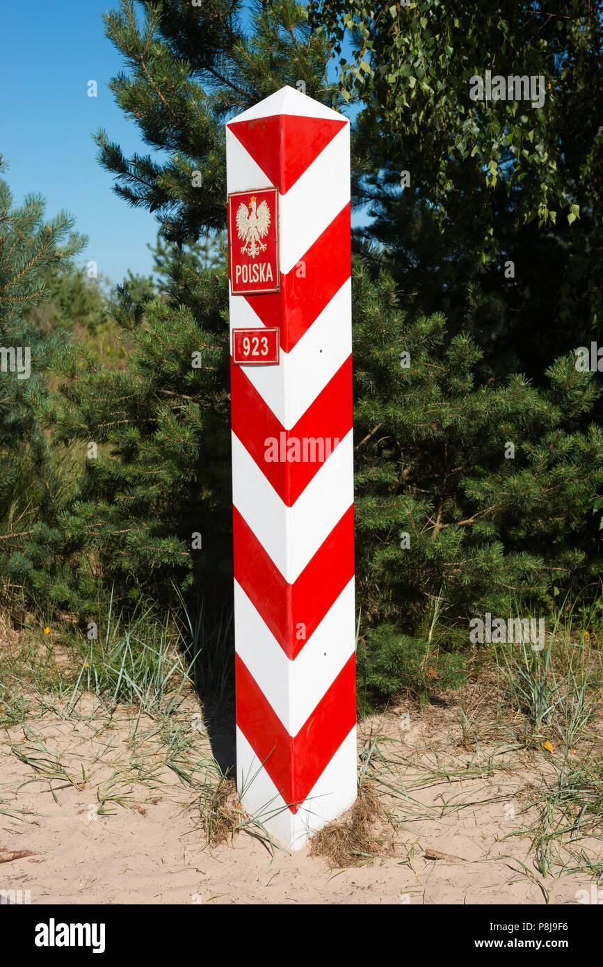 Die Polnische Grenze Grenze Zwischen Deutschland Und Polen