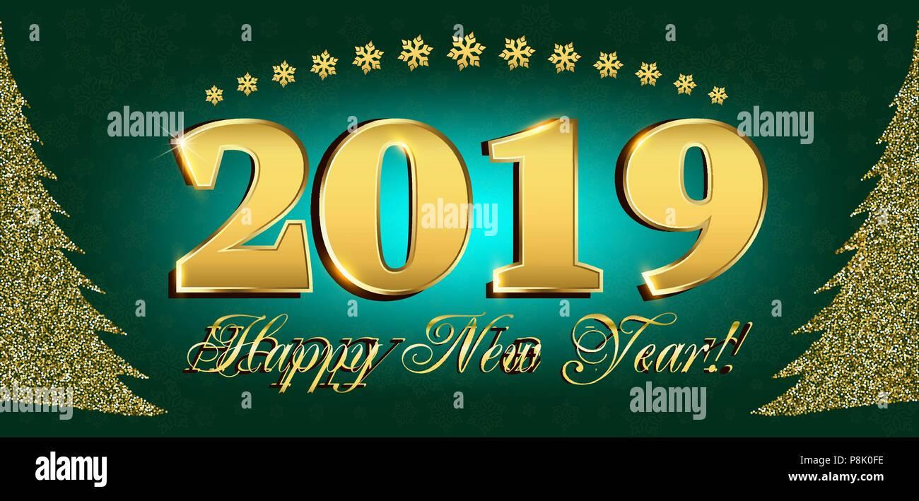 2019 Frohes Neues Jahr Flyer und Grußkarten-oder Weihnachten ...