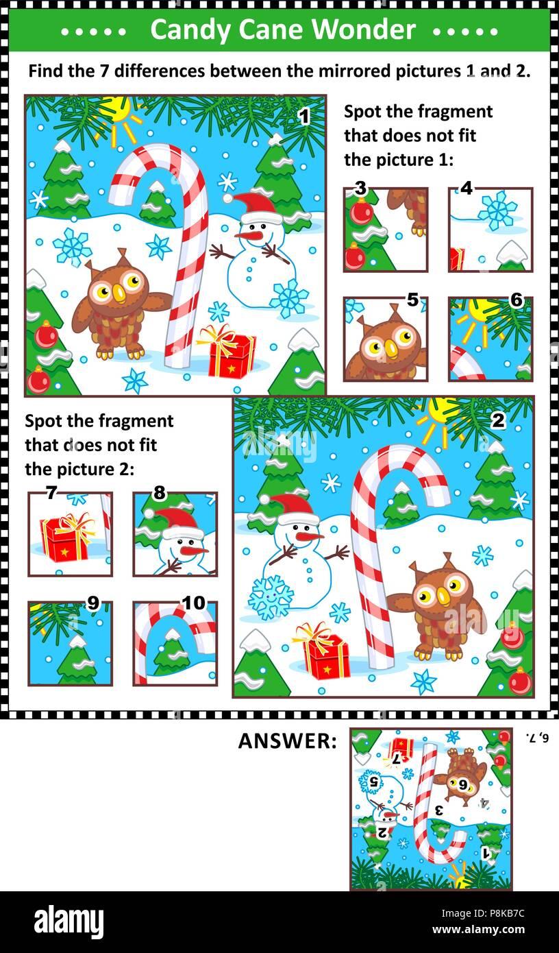Rätsel Weihnachten Erwachsene.Silvester Oder Weihnachten Visuelle Rätsel Mit Zuckerstange