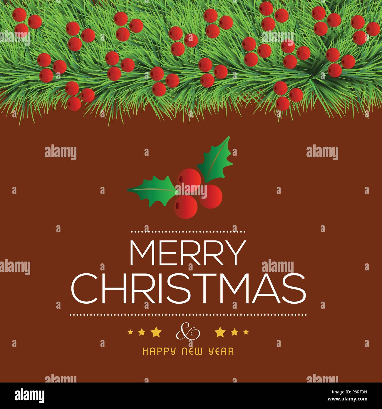 Einfache Weihnachtsgrüße.Weihnachtsgrüße Karte Mit Dunklen Hintergrund Sehr Kugeln Kirschen