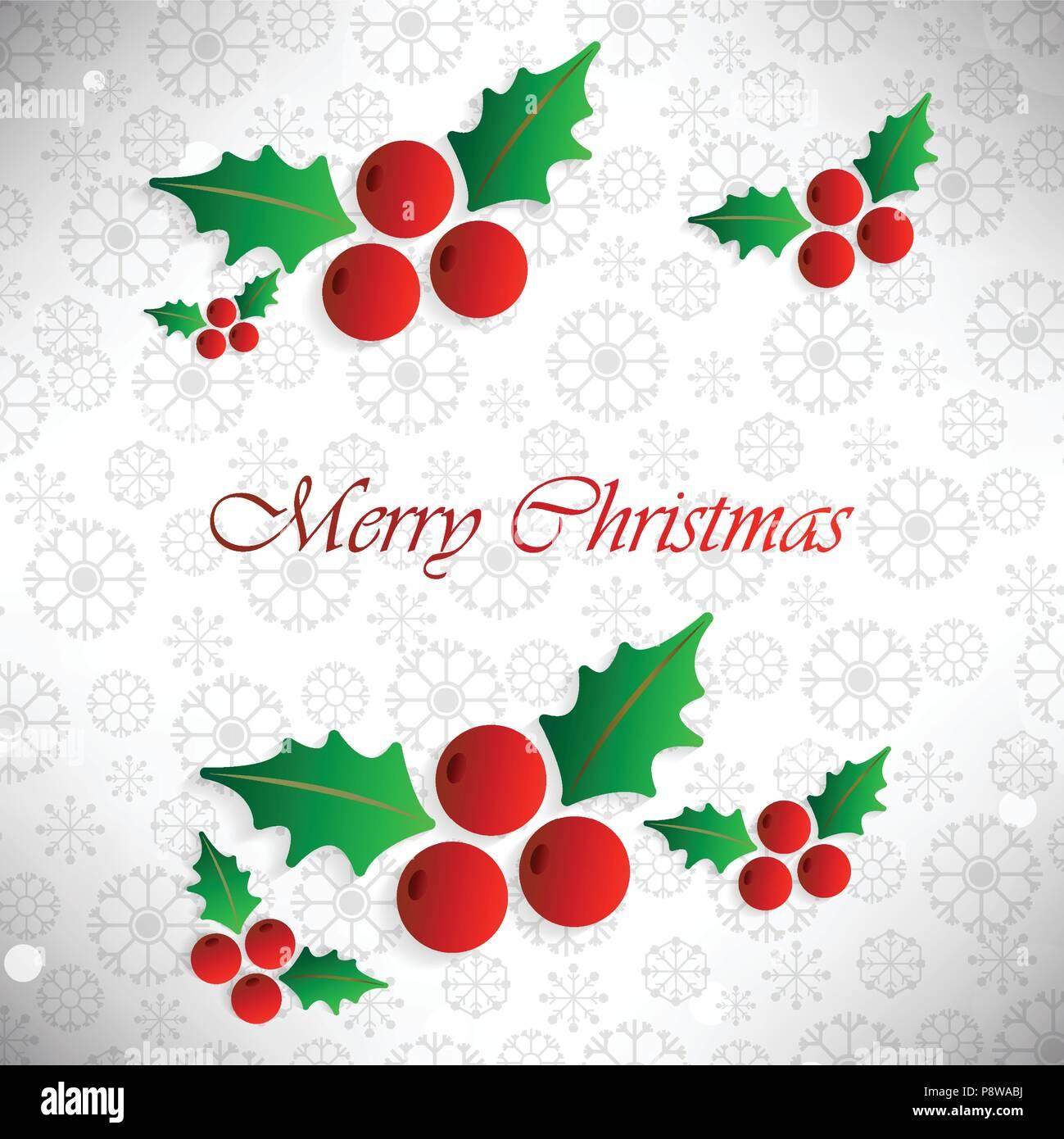 Weihnachtskarten Muster.Weihnachtskarte Mit Muster Hintergrund Und Cherry Blätter Für Web