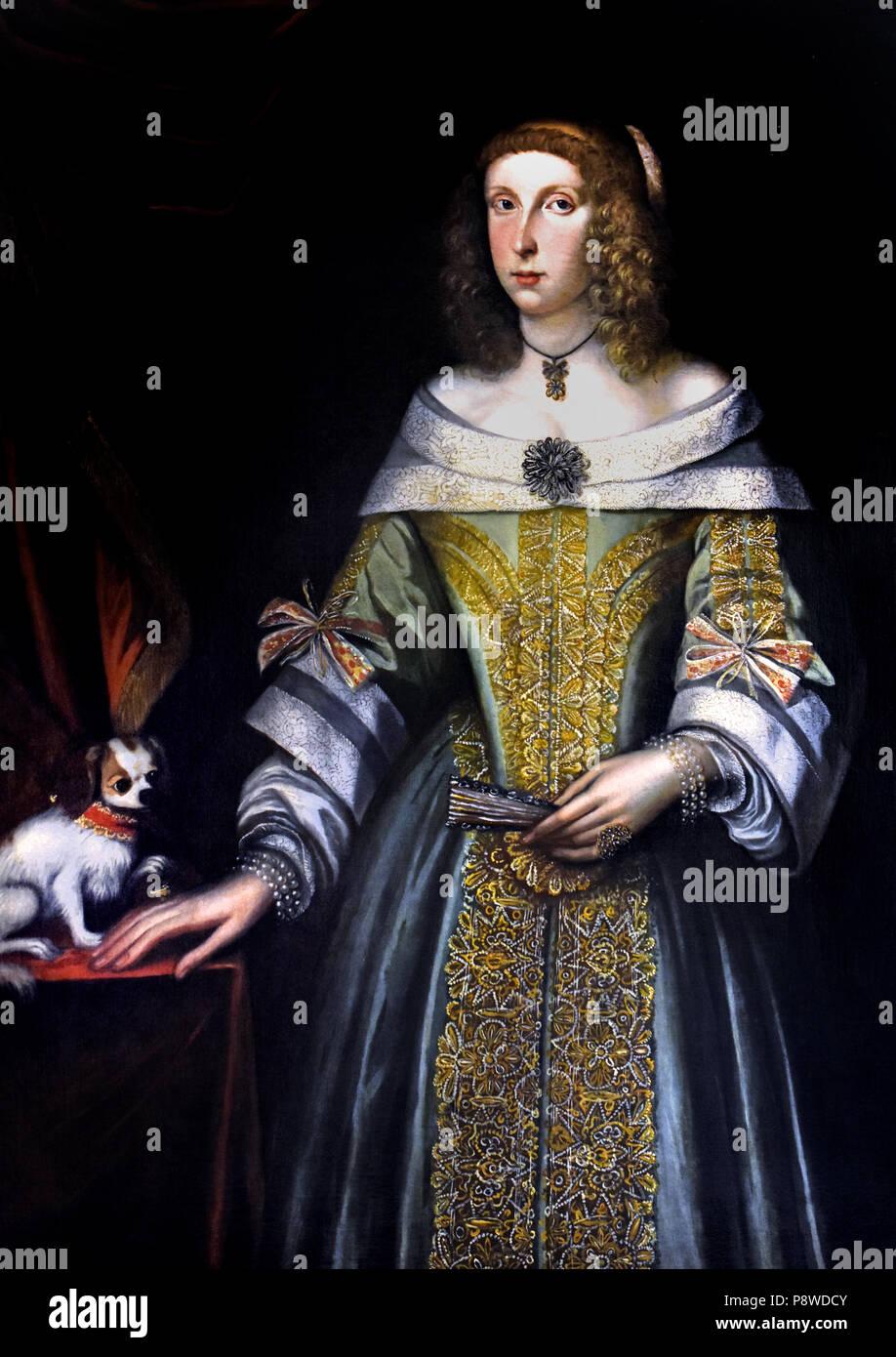 Bildnis einer Dame von Französischen unbekannter Maler des 16. Jahrhunderts Frankreich Stockbild