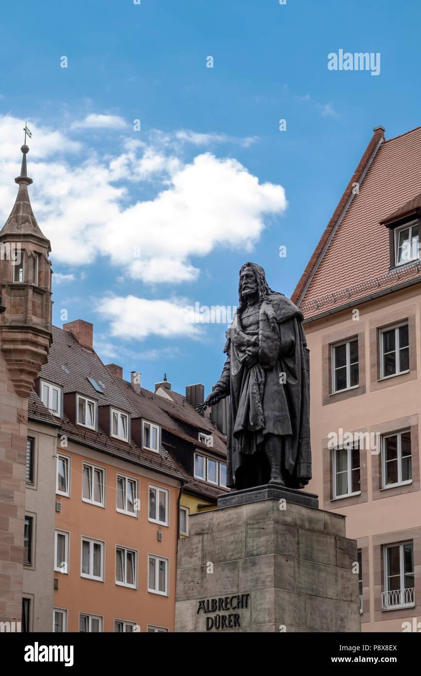 Albrecht Duerer Statue, Nürnberg, Deutschland Stockbild