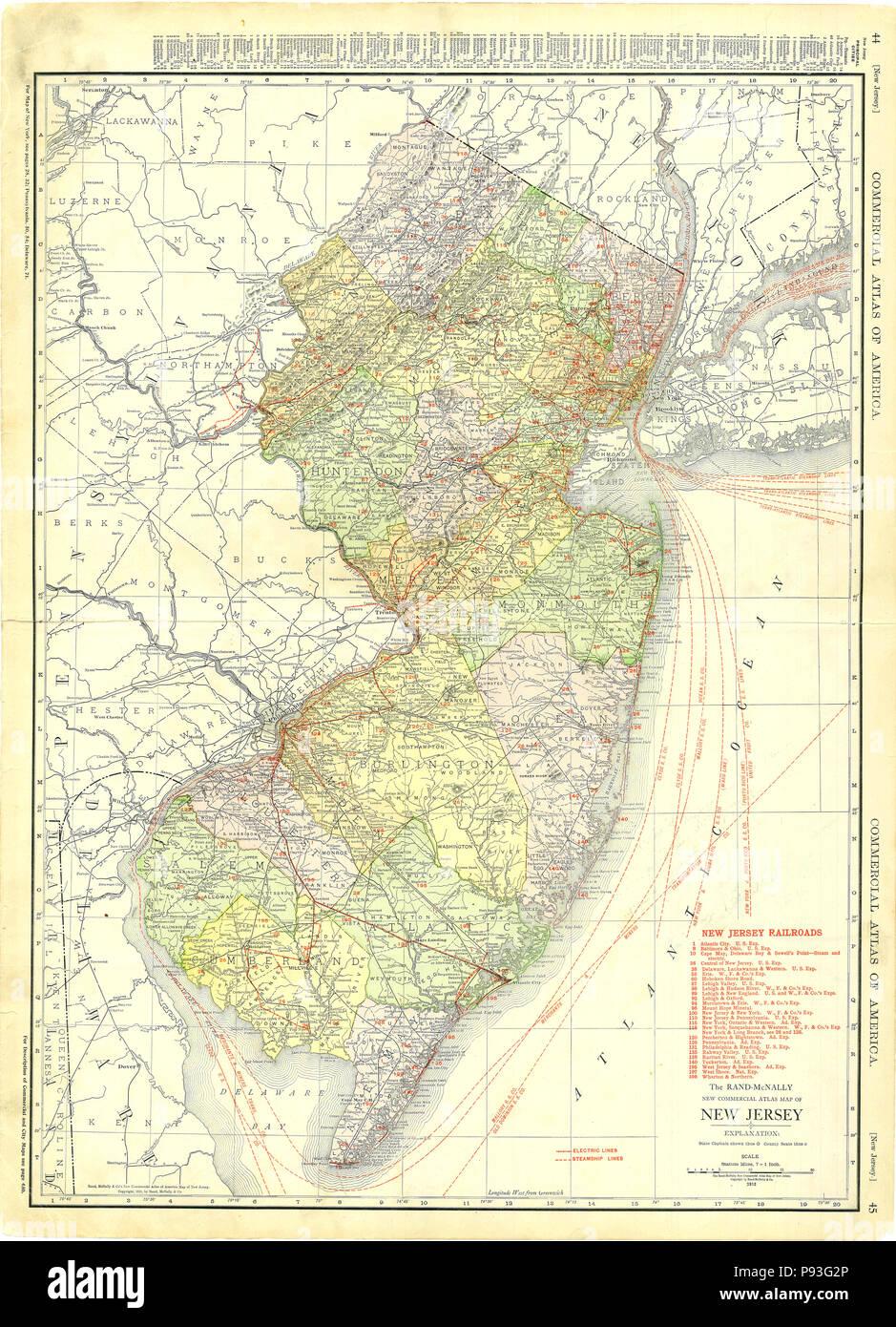 New Jersey Map Stockfotos & New Jersey Map Bilder - Alamy