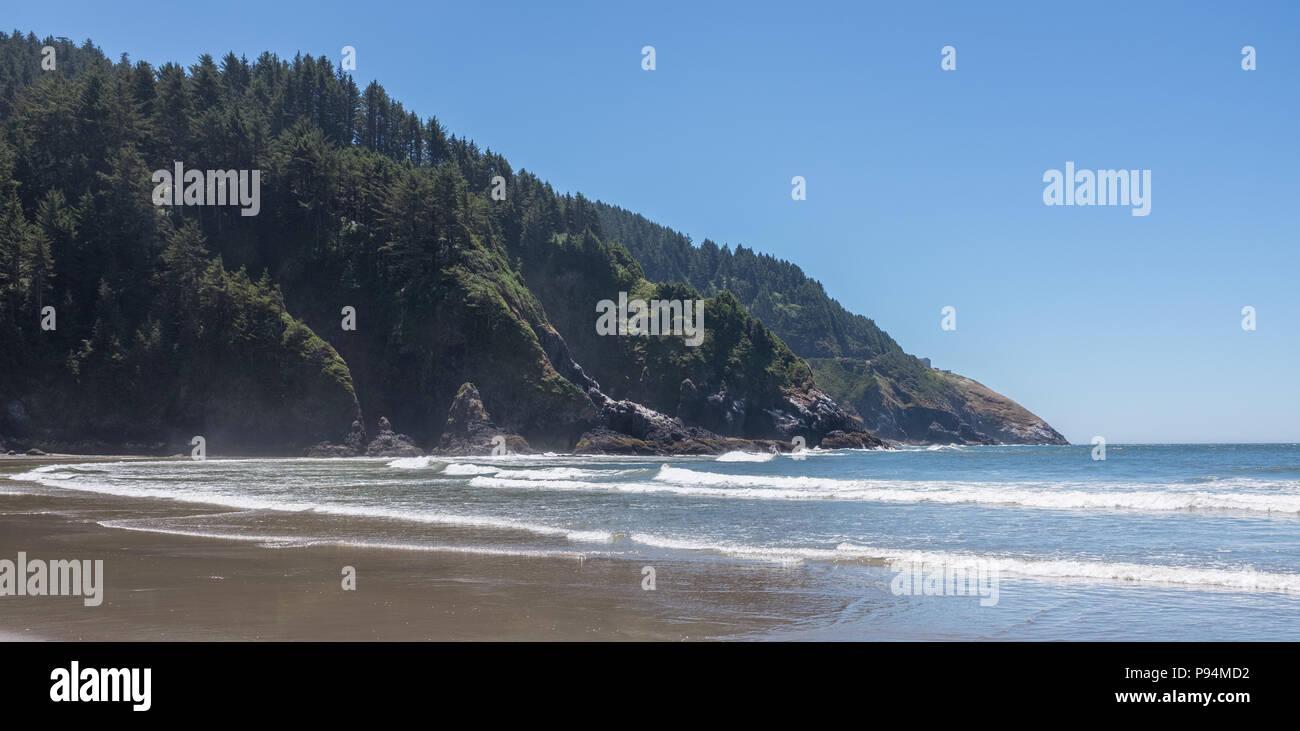Heceta Head Cove, in der Nähe von Florence, Oregon Stockbild