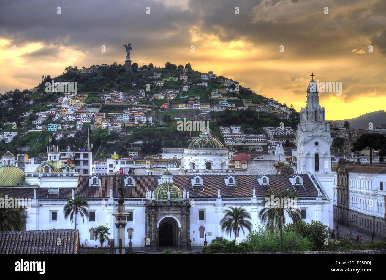 Quito, die Hauptstadt von Ecuador Stockbild