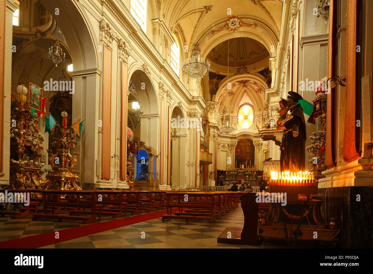 Interieur, Kathedrale Sant'Agata, Catania, Sizilien, Italien, Europa ich Innenraum, Kathedrale Dom Sant'Agata, Catania, Sizilien, Italien, Europa Stockbild