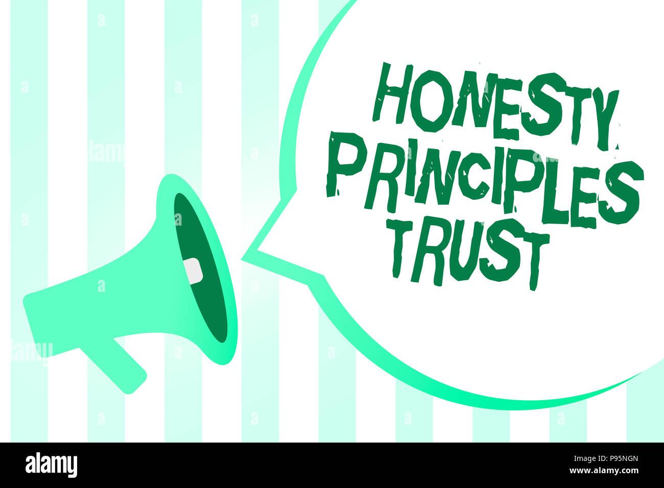 ehrlichkeit und vertrauen