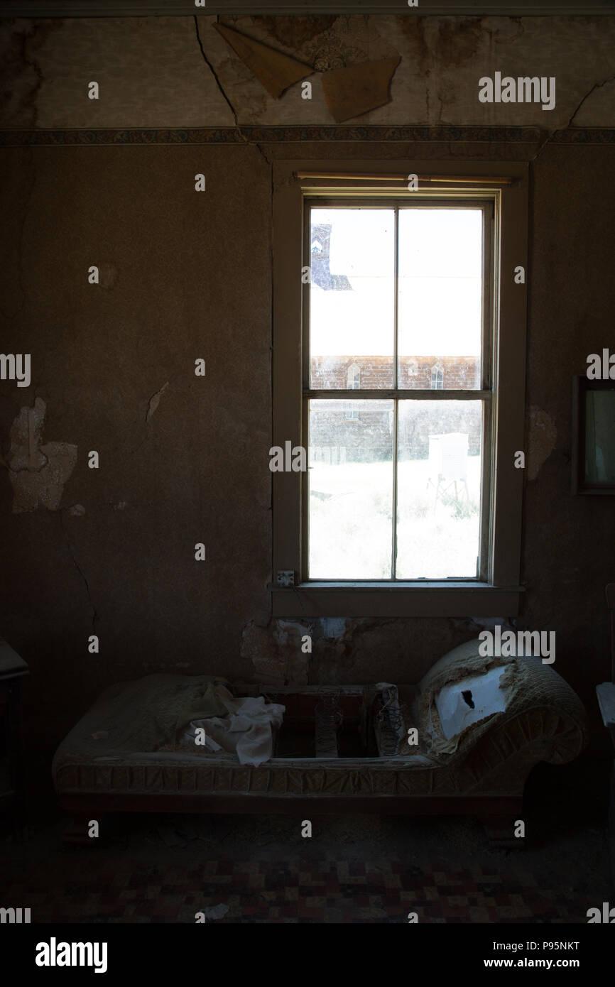 Licht Durch Ein Fenster In Ein Verlassenes Haus In Bodie