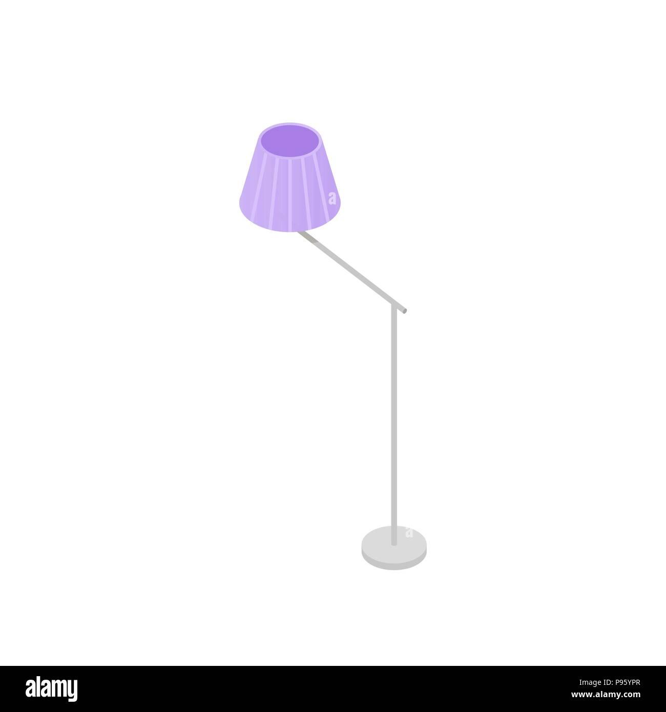 Low Poly Isometrische Stehleuchte. Realistische Symbol. Isolierte  Abbildung: Wohnzimmer Oder Schlafzimmer Dekoration