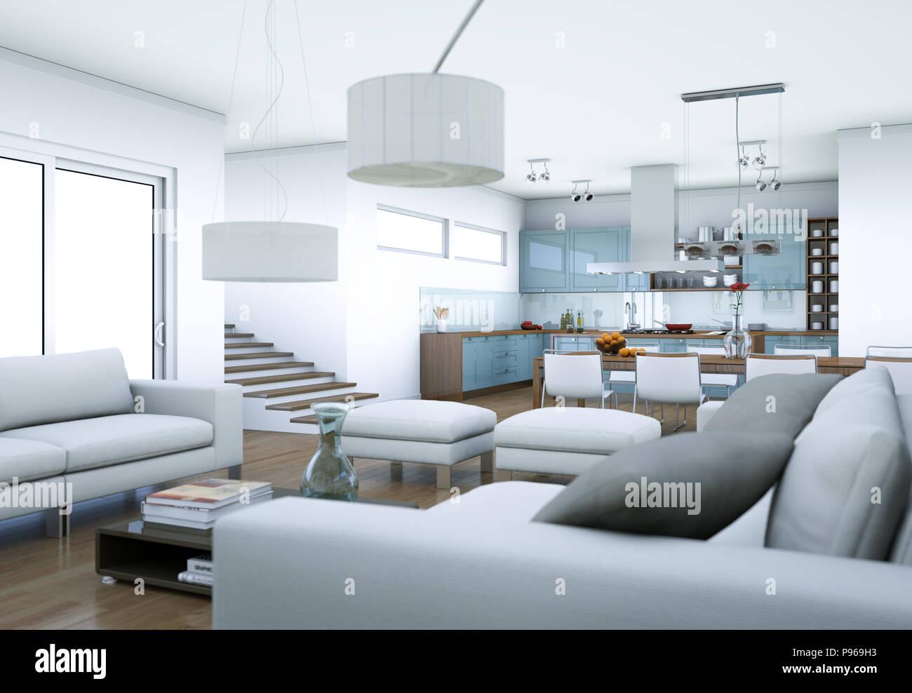 Gewaltig Weißes Wohnzimmer Referenz Von Modernes Weißes Interior Design