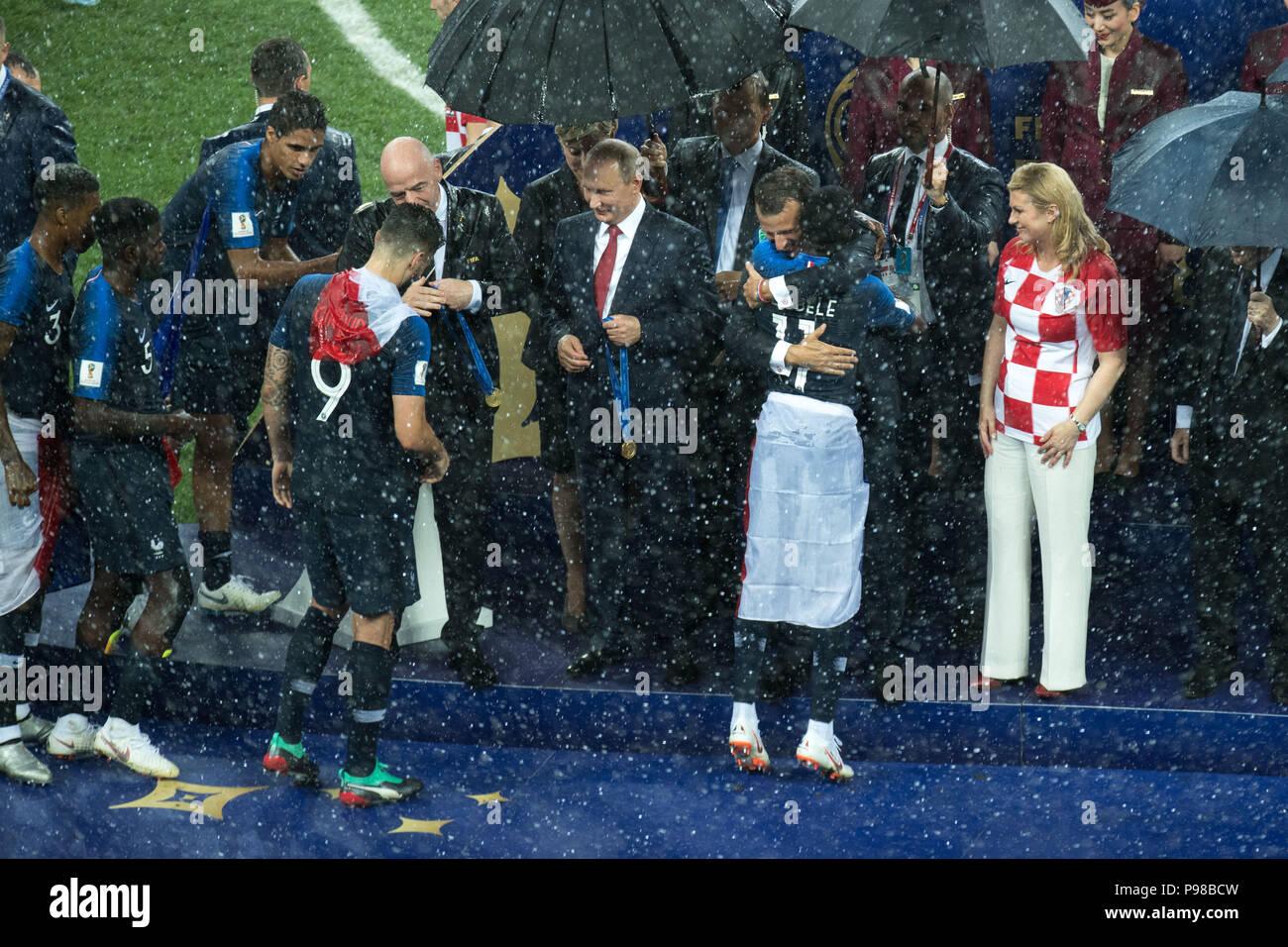 Moskau Russland 16 Juli 2018 Von Gianni Infantino Fifa
