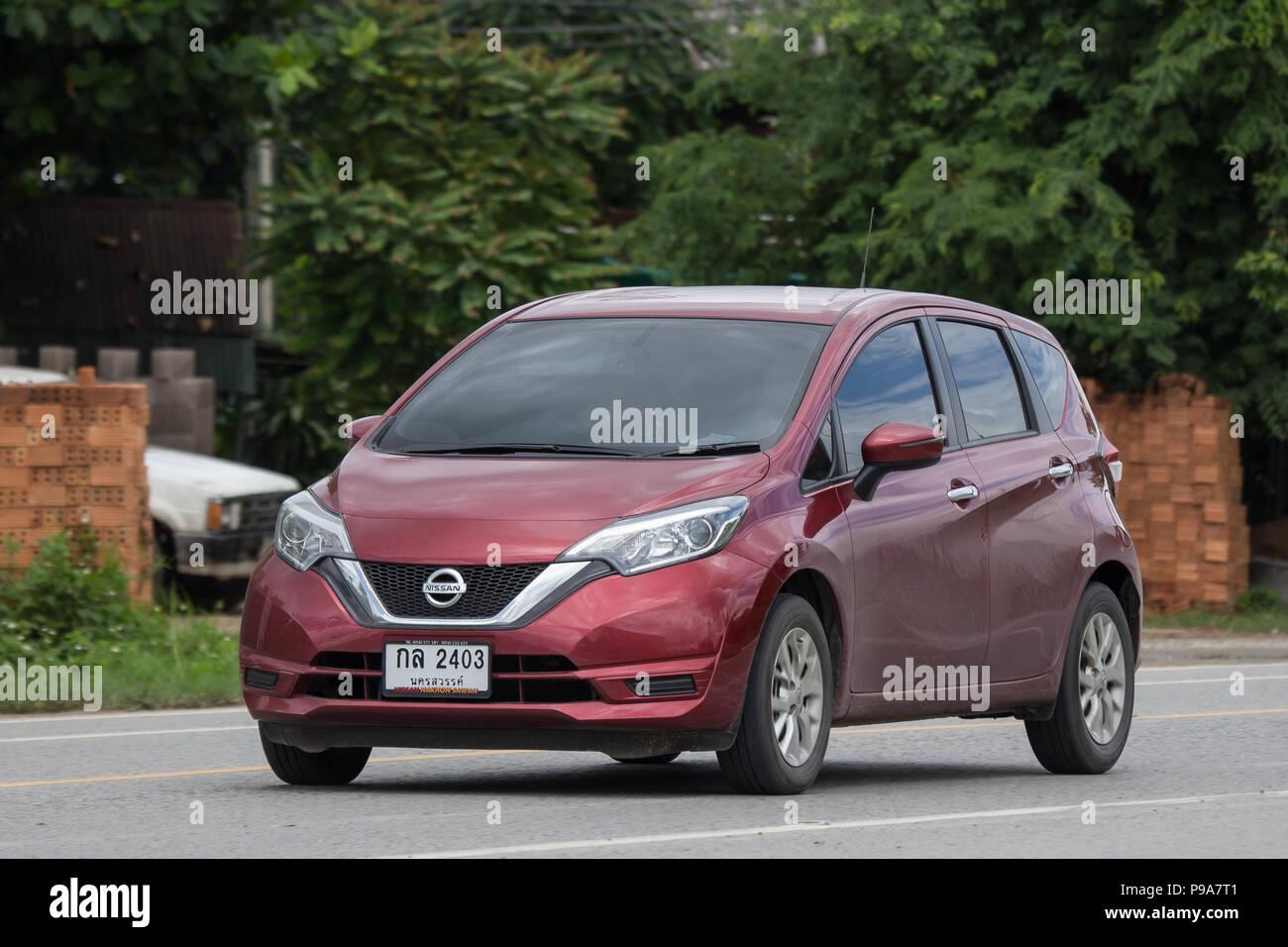 chiangmai, thailand - 28. juni 2018: private neue eco auto nissan