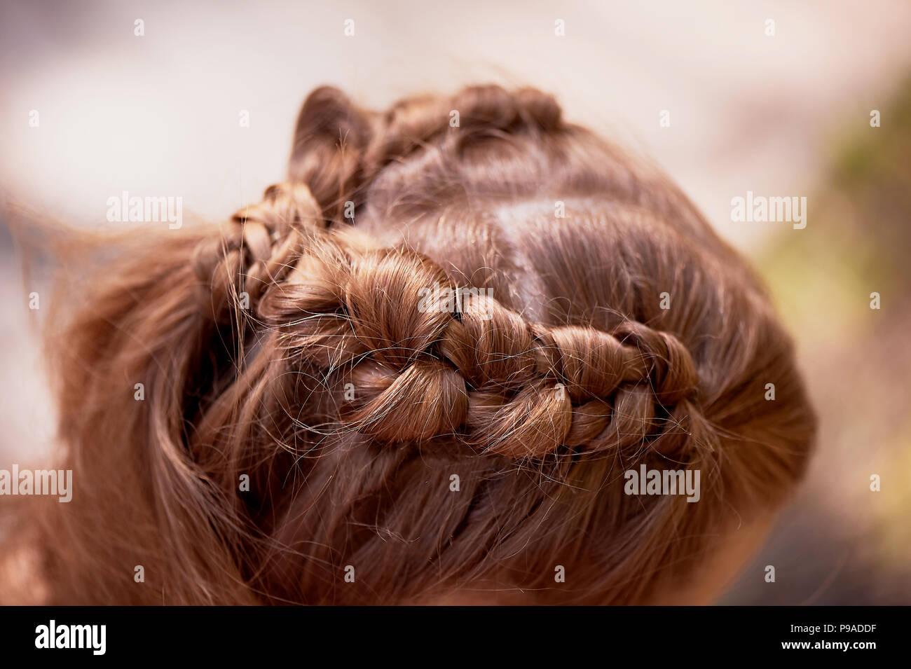 Hochzeit Frisuren Fur Dicke Rote Haare Haar In Der Nahe Stockfoto