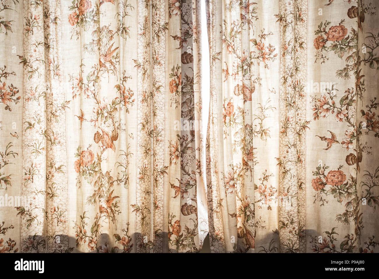 Fenster Vorhang Mit Muster Dekoration Interieur Vintage Licht