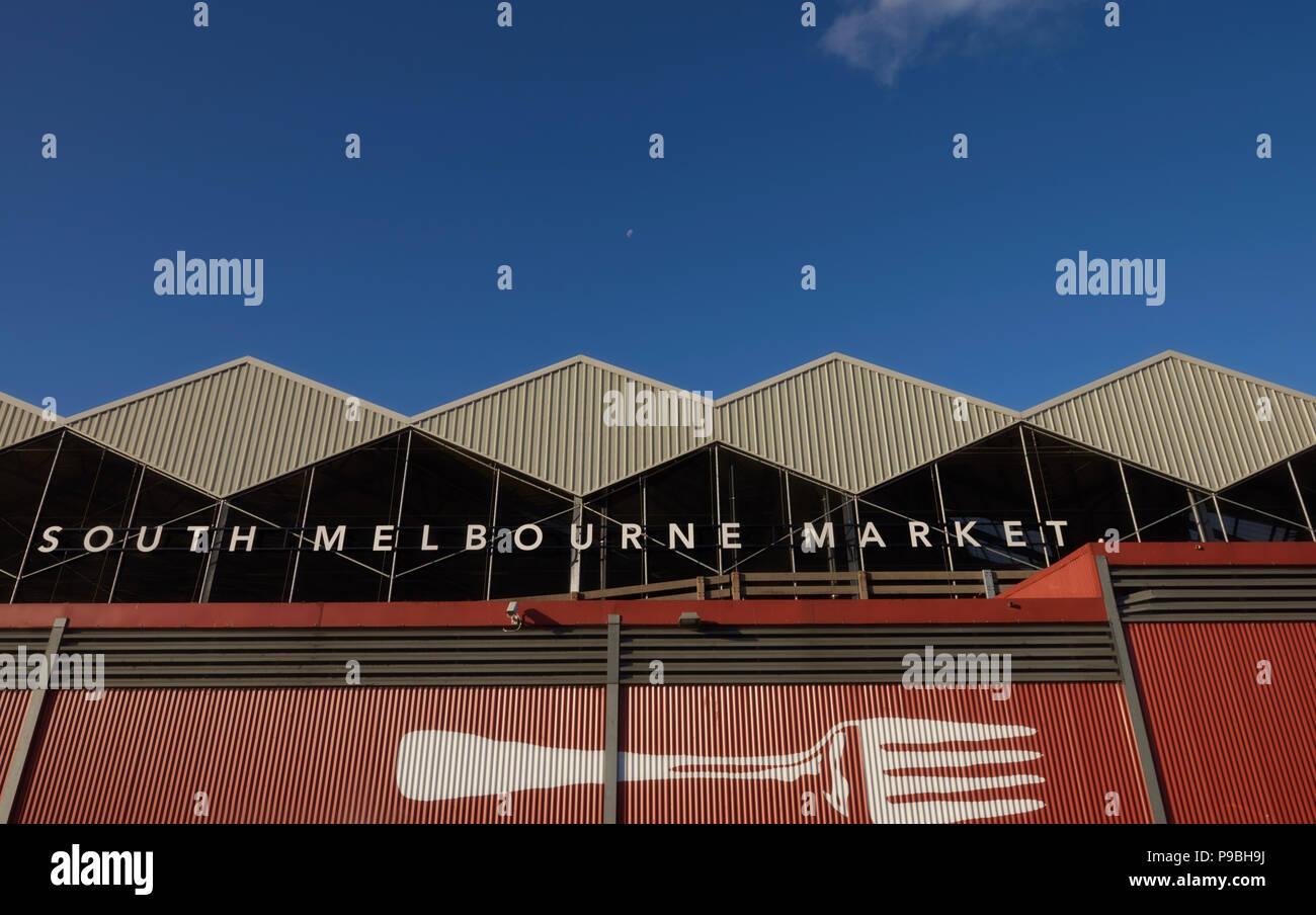 South Melbourne Markt Stockbild