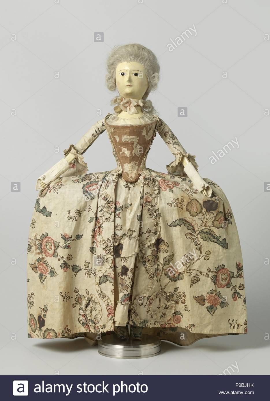 Puppe Holz Mit Glas Augen Und Haare Des Menschlichen Haares In
