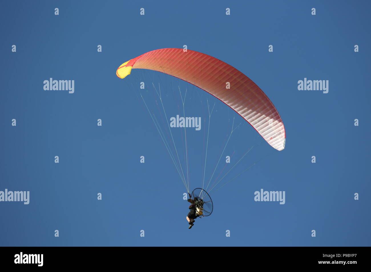 Powered Paragliding Festival, Peasemore Newbury, Berkshire England Stockbild