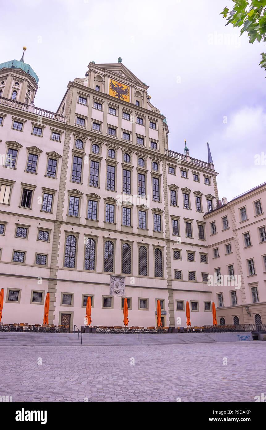 Das historische Rathaus von Augsburg, Bayern, Deutschland. Stockfoto