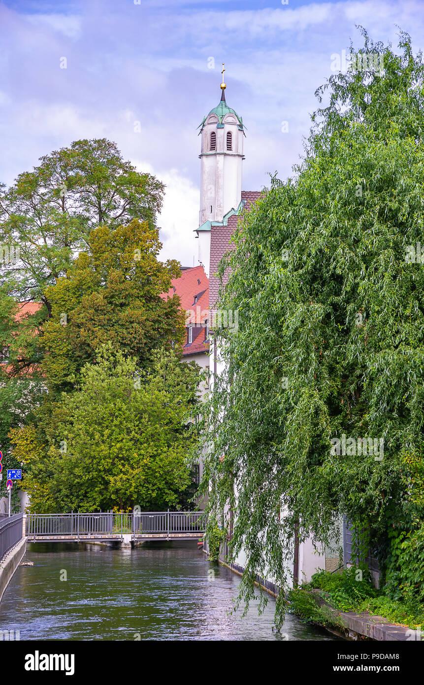 Augsburg, Bayern, Deutschland - Klosterkirche der Dominikanischen Kloster St. Ursula. Stockfoto