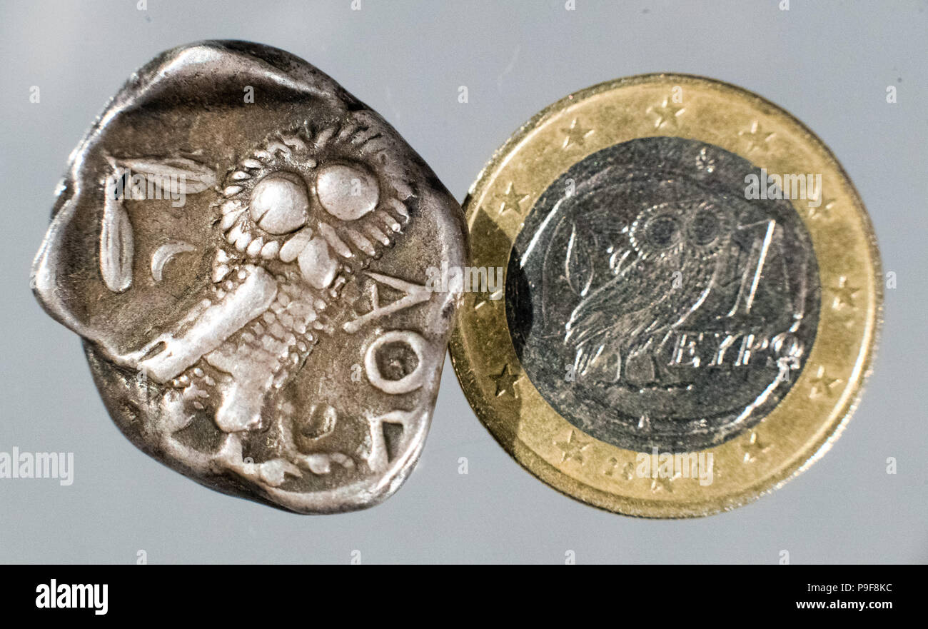 18 Juli 2018 Hannover Deutschland Eine Griechische 4 Stater Aus