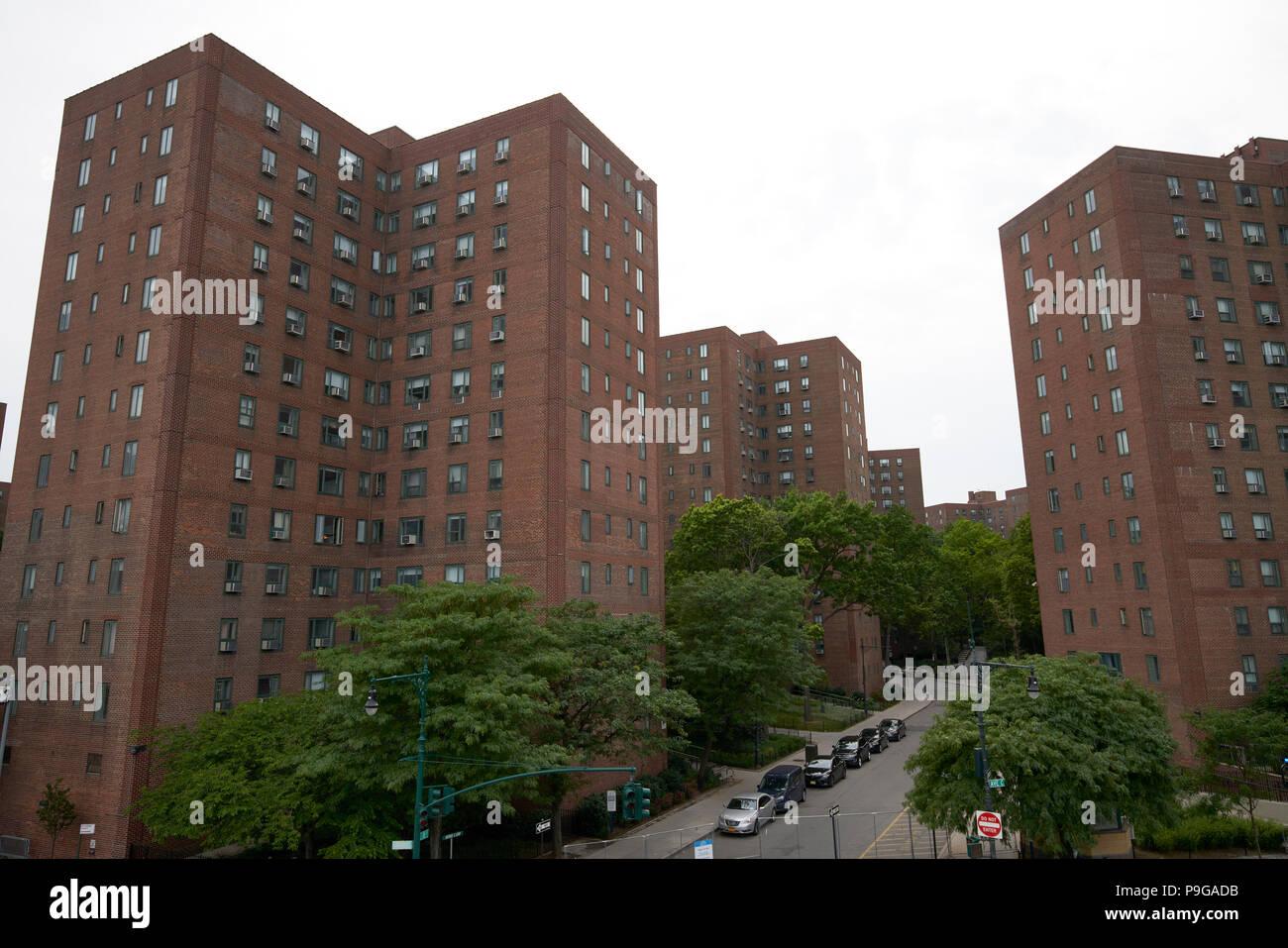 Gebäudehüllen in Stuyvesant Town, New York City Stockbild