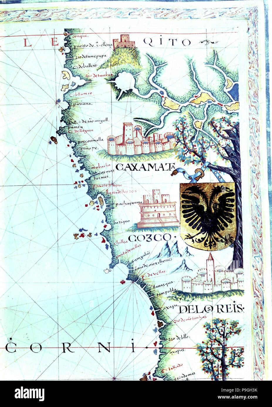 Lima Peru Karte.Karte Von Der Pazifischen Küste Entlang Der Anwesenden Nationen Von