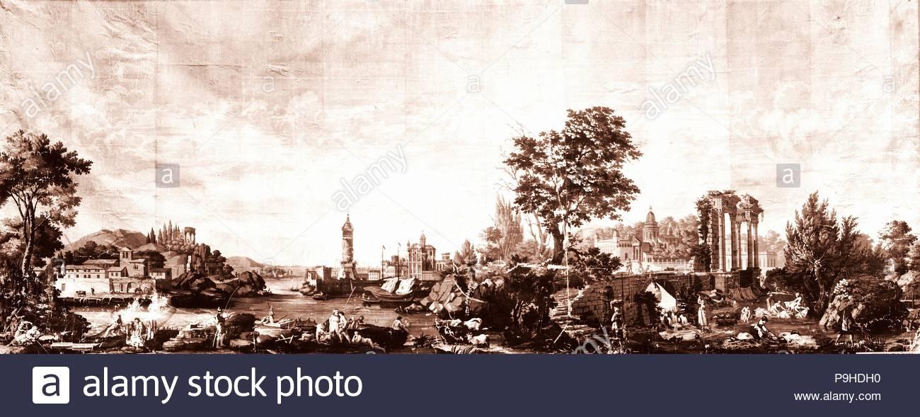 Tapeten Ca 1790 In Paris Frankreich Papier 90 X 235 In 228 6